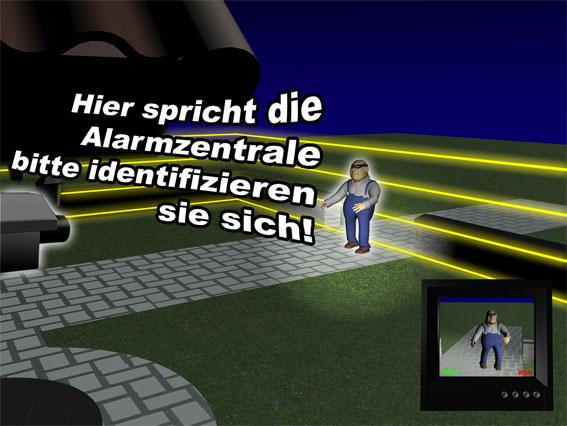 Infrarotzaun Sicherheitstechnik Haus Alarmzentrale Einbrecher
