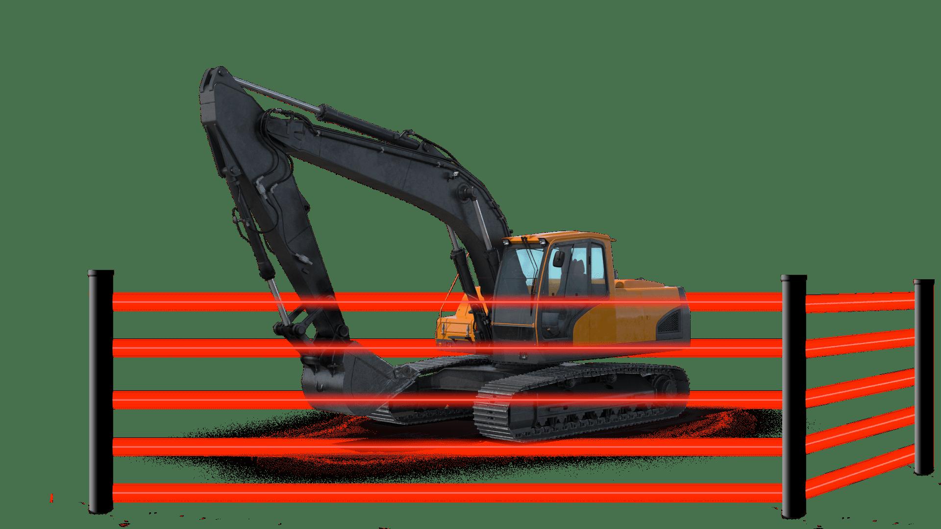 Baustellenüberwachung durch Infrarotzaun