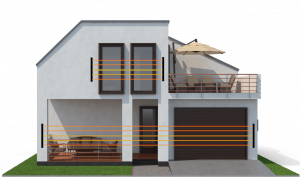 Frühwarnsystem Alarmanlage für das Haus